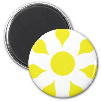 yellow sun icon fridge magnet