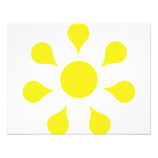 yellow sun icon personalized announcements