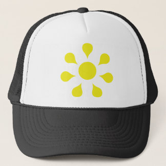yellow sun icon trucker hat
