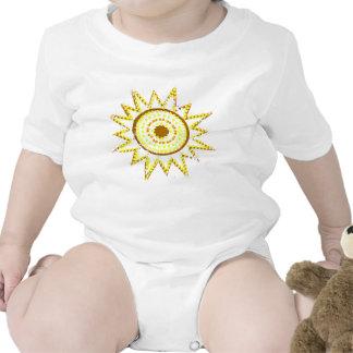 Yellow Sun in Lights Grunge Cutout Bodysuits
