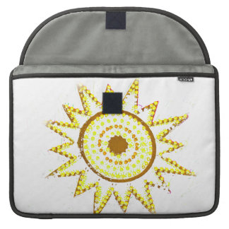 Yellow Sun in Lights Grunge Cutout Sleeve For MacBook Pro