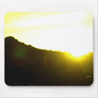 Yellow Sun Mouse Pad