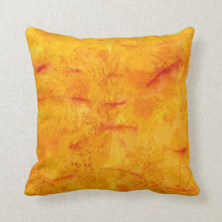 Yellow Sun of My Imagination Abstract Throw Pillows