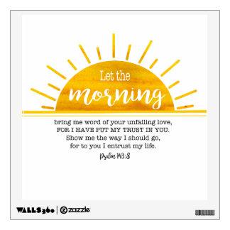 Yellow Sun Psalm Wall Decal