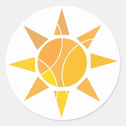 Yellow sun sticker