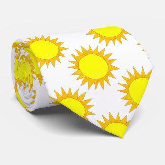 Yellow Sun Sunshine Beach Summer Sunny Day Tie