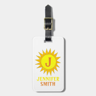 Yellow Sun Sunshine Personalized Luggage Tag