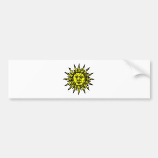 Yellow Sun Symbol Bumper Sticker