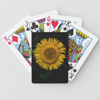 Yellow sun to flower bicycle playing cards