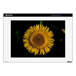 Yellow sun to flower laptop decal
