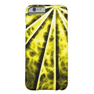 Yellow Sun Vortex Fractal Barely There iPhone 6 Case