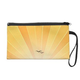 """Yellow Sunbeam & Seagulls """"FlyAway"""" Clutch Purse"""