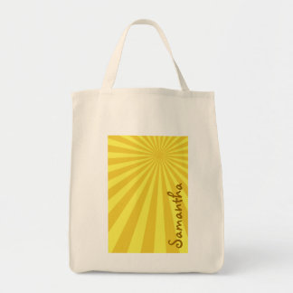 "Yellow Sunburst ""Add Your Name"" Tote Bag"
