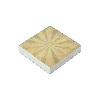 Yellow Sunburst Grungy Stone Magnet