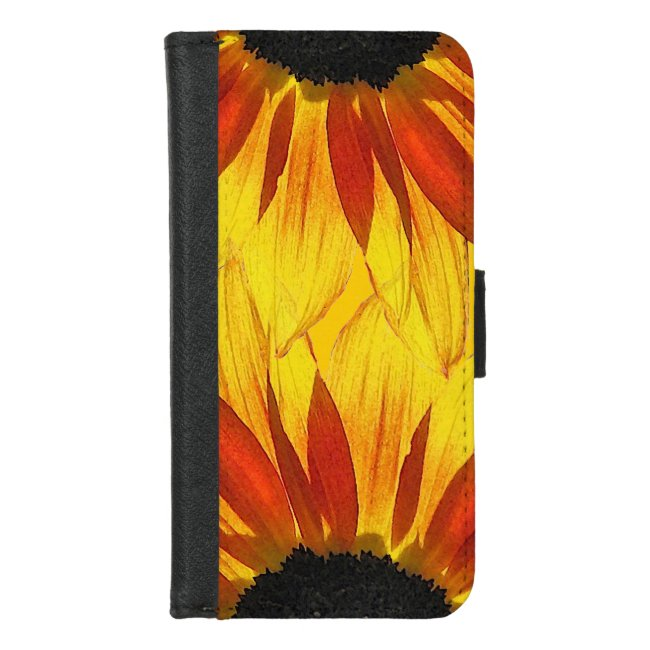 Yellow Sunflower Abstract iPhone 8/7 Wallet Case