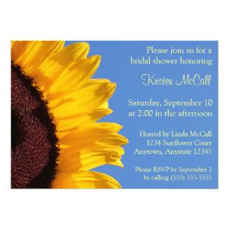 Yellow Sunflower and Blue Sky Invitation