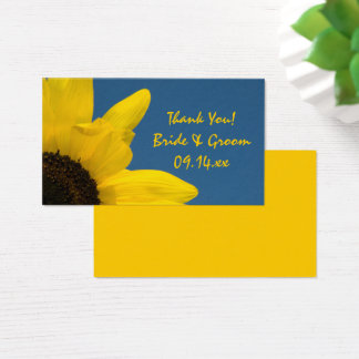Yellow Sunflower and Blue Sky Wedding Favor Tags