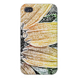 Yellow Sunflower Art Covers For iPhone 4