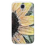 Yellow Sunflower Art Samsung Galaxy S4 Cover