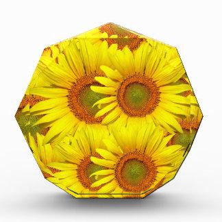 Yellow Sunflower Acrylic Award