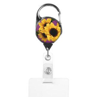 Yellow Sunflower Badge Holder