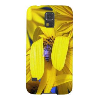 Yellow Sunflower, Blue Bee Galaxy Nexus Case