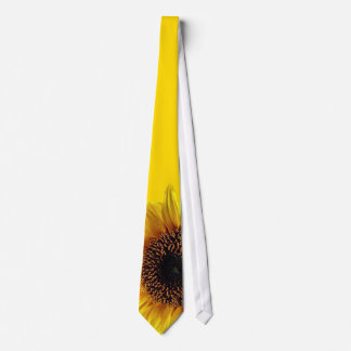 Yellow Sunflower Botanical Floral Men's Necktie