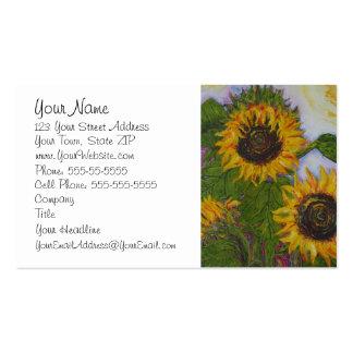 Yellow Sunflower Business Card