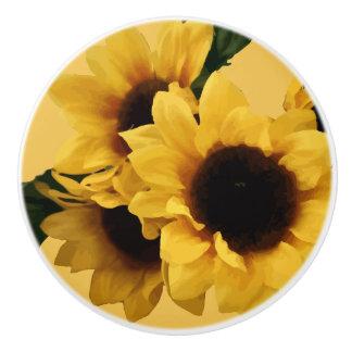 Yellow Sunflower Ceramic pull