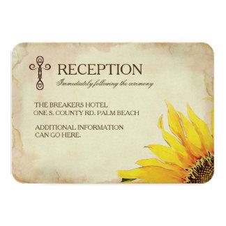 Yellow Sunflower Christian Wedding Insert Card