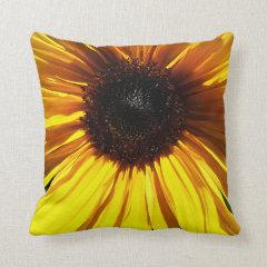 Yellow Sunflower Closeup Pillows