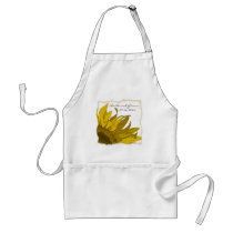 Yellow Sunflower Corner Wedding Adult Apron