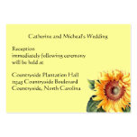 Yellow Sunflower Country Wedding Reception Insert Business Card Template
