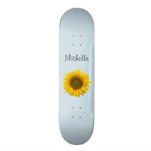 Yellow Sunflower Custom Cute Country Floral Skateboard