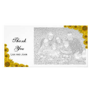 Yellow Sunflower Edge Thank You Card
