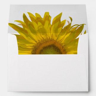 Yellow Sunflower Envelopes