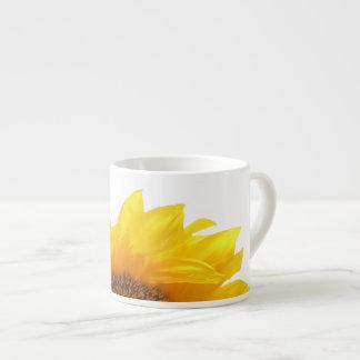 yellow sunflower espresso cup