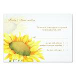 Yellow Sunflower Fall Wedding RSVP Card
