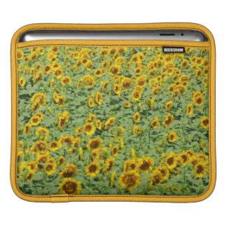 Yellow Sunflower Field Sleeve For iPads