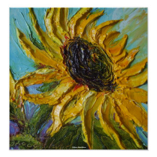 Yellow Sunflower Fine Art Poster