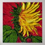 Yellow Sunflower Fine Art Poster