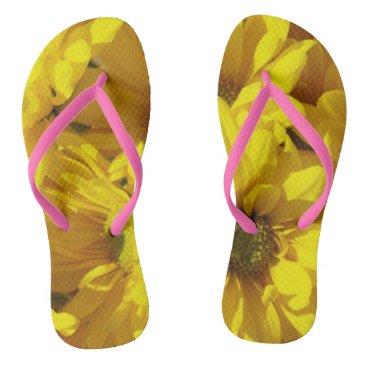 Beach Themed Yellow Sunflower Flip Flops