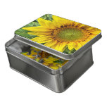 Yellow sunflower floral jigsaw puzzle