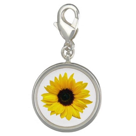 Yellow Sunflower Flower Floral Charm