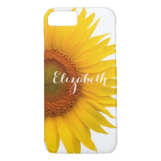 Yellow Sunflower Flower Floral Personalized iPhone 7 Case