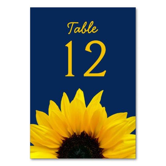Yellow Sunflower Flower Navy Blue Wedding Card | Zazzle.com