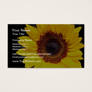 Yellow sunflower  flowers business card