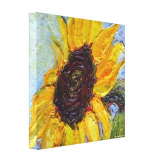 Yellow Sunflower Gallery Wrap Canvas Print