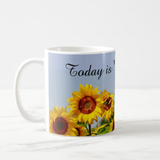 Yellow Sunflower Garden Expression Coffee Mug