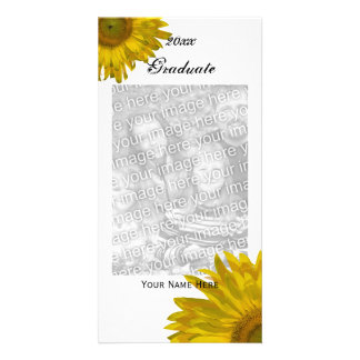 Yellow Sunflower Graduation Announcement Photo
